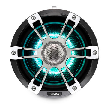 Fusion SG-FLT772SPC 7.7'' Sports Grille Grey Chrome Tower Speakers with LEDs - Pair