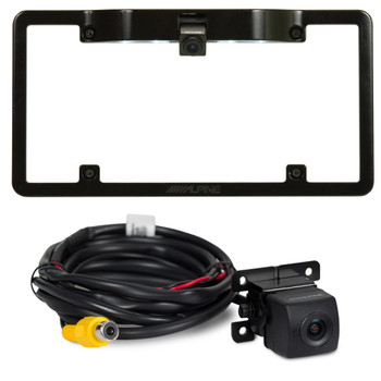 Alpine KTX-C10LP License Plate Frame with Alpine HCE-C114 Back Up Camera