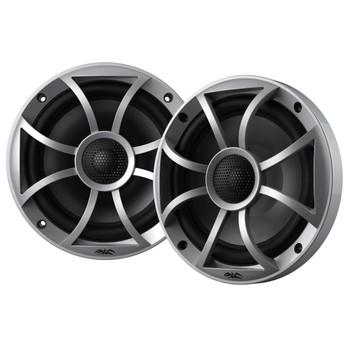 "SSV MRB2R Bluetooth Rocker Switch Audio System 200-Watt Amplifier with 2-Pair Wet Sounds Recon6-S 6.5"" Coax Speakers (Silver)"