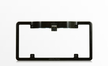 Alpine KTX-C10LP License Plate Frame with Alpine HCE-C1100 HDR Back Up Camera