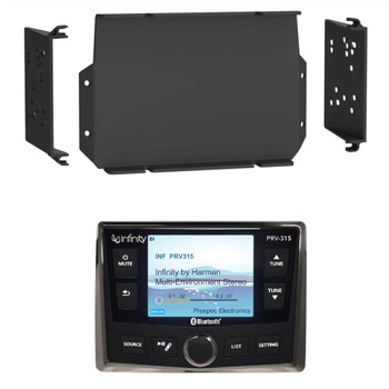 Infinity PRV-315 Waterproof Marine Radio with MPS-GEN02 16-20 Polaris General Dash Kit
