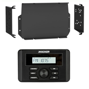 Kicker KMC3 Waterproof Marine Radio with MPS-GEN02 16-20 Polaris General Dash Kit