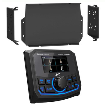 JVC KD-MR1BTS Waterproof Marine Radio with MPS-GEN02 16-20 Polaris General Dash Kit