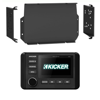 Kicker KMC4 Waterproof Marine Radio with MPS-GEN02 16-20 Polaris General Dash Kit