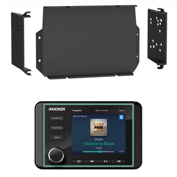 Kicker KMC5 Waterproof Marine Radio with MPS-GEN02 16-20 Polaris General Dash Kit