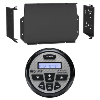 MB Quart GMR-2.5 Waterproof Marine Radio with MPS-GEN02 16-20 Polaris General Dash Kit