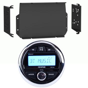 Memphis MXA1MC Waterproof Marine Radio with MPS-GEN02 16-20 Polaris General Dash Kit