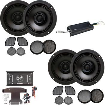 Memphis Audio MXAHDPRO4 4 6.5 Inch Speaker Motorcycle Audio for Harley Davidson Direct OEM Kits