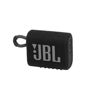 JBL GO3 Portable Speaker with Bluetooth, Built-in Battery, Waterproof and Dustproof Feature (Black)