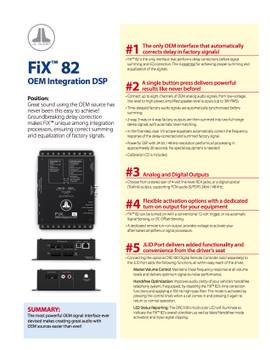 JL Audio FiX 82 OEM Integration DSP