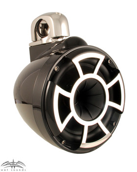 Wet Sounds REV 8 Fixed Clamp Tower Speakers - Black (Pair)