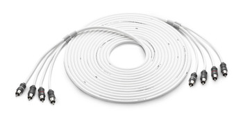 JL Audio XMD-WHTAIC4-25:4-Channel 25 ft (7.62 m) Marine Audio Interconnect