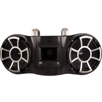 """Wet Sounds REV 410 Fixed Clamp Tower Speaker, fits 1-7/8"""" to 3"""" pipes - BLACK"""