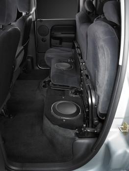 JL Audio SB-D-QDRAMD/10TW1:Stealthbox® for 2002-2018 Dodge Ram 1500 Quad Cab, 2003-2019 2500 & 3500 Quad Cab & 2009-2018 1500 Crew Cab & 2009-2019 2500 & 3500 Crew Cab