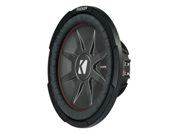 Kicker CompRT12 12-Inch (30cm) Subwoofer, DVC, 1-Ohm, 500W