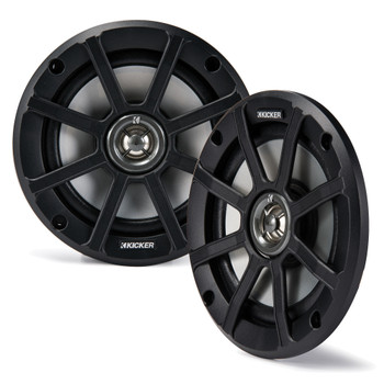 Kicker PSC65 6.5-Inch (160mm) PowerSports Weather-Proof Coaxial Speakers, 2-Ohm (Pair)