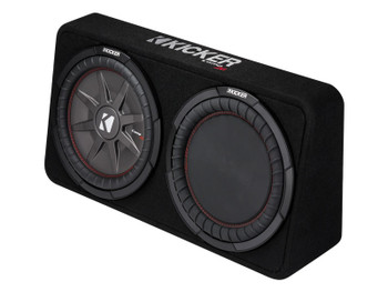 Kicker 43TCWRT122 CompRT12 12-inch Subwoofer in Thin Profile Enclosure, 2-Ohm, 500W