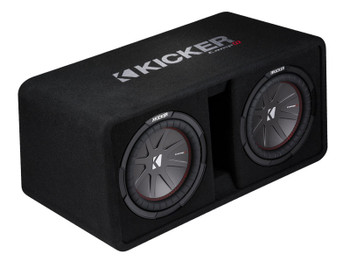 Kicker CompR10 Dual 10-inch (25cm) Subwoofers in Vented Enclosure, 2-Ohm, 800W