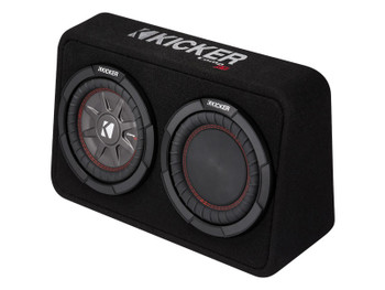 Kicker 43TCWRT84 CompRT8 8-inch (20cm) Subwoofer in Thin Profile Enclosure, 4-Ohm, 300W
