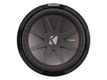 Kicker CompR12 12-Inch (30cm) Subwoofer, DVC, 4-Ohm, 500W