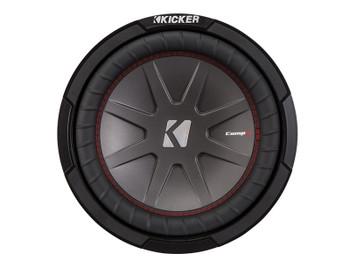 Kicker CompR10 10-Inch (25cm) Subwoofer, DVC, 4-Ohm, 400W