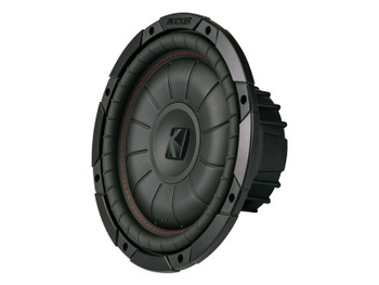 Kicker CompVT 10-Inch (25cm) Subwoofer, SVC, 4-Ohm, 350W
