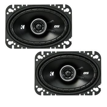 Kicker DSC460 4x6-Inch (100x160mm) Coaxial Speakers, 4-Ohm (Pair)