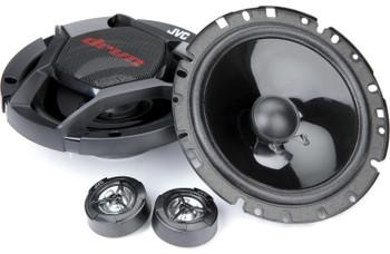 JVC CS-DR600C 300W Peak (60W RMS) 6.5 2-Way Factory Upgrade Component Speakers - Pair
