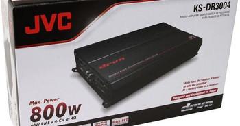 JVC KS-DR3004 1000W Peak 4-Channel DR Series Class-AB Power Amplifier