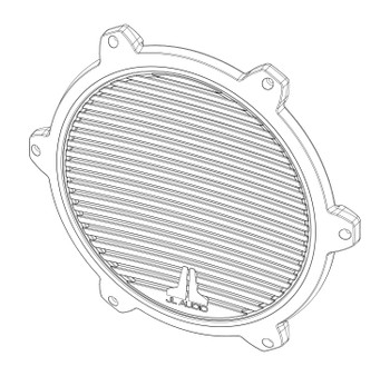JL Audio SGR-M12-CG-WH-RP White Classic Grille for M12IB6