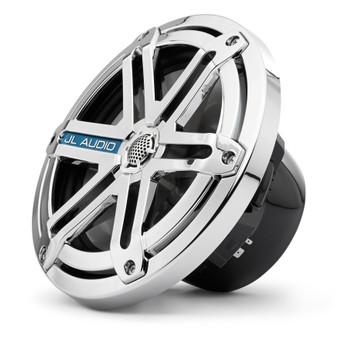 JL Audio Marine  MX770-CCX-SG-CLD-B LED 7.7-inch coaxials (pr): Black, with Chrome Sport Grille