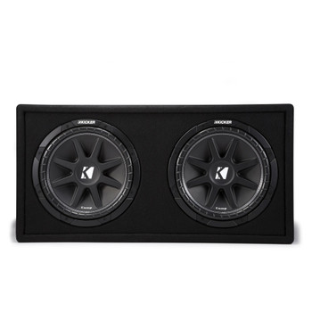 Kicker 43DC122 Dual Comp 12-inch Vented Subwoofer Enclosure 2-Ohm, RoHS Compliant