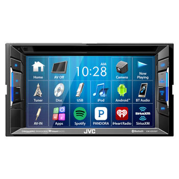 JVC Refurbished KW-V230BT Bluetooth DVD/CD/USB Receiver with 6.2 Inch Touch Panel