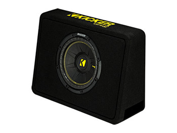 "Kicker TCWC104 CompC 10"" Subwoofer in Thin Profile Enclosure 4-Ohm"