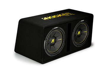 """Kicker 44DCWC122 Dual CompC 12"""" Subwoofers in Vented Enclosure 2-Ohm"""