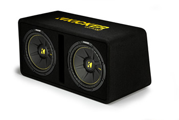 "Kicker 44DCWC122 Dual CompC 12"" Subwoofers in Vented Enclosure 2-Ohm"