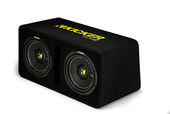 "Kicker 44DCWC102 Dual CompC 10"" Subwoofers in Vented Enclosure, 2-Ohm"