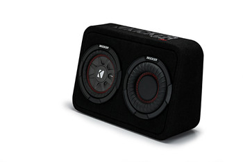 "Kicker 43TCWRT674 CompRT 6.75"" Subwoofer in Thin Profile Enclosure 4ohm 150W"