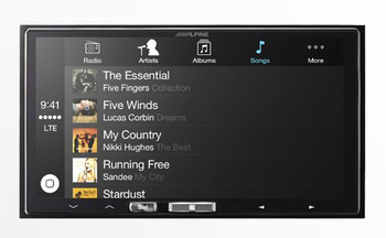 Alpine iLX-107 7 Inch Mech-less Receiver compatible with Wireless CarPlay