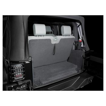 JL Audio SB-J-JK2DR/10W1v3/BK:Stealthbox® for 2007-2017 Jeep Wrangler JK 2dr with Black interior