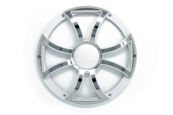 Wet Sounds REVO 10 XS-W-SS GRILL White w/ Stainless XS Open Style Grill for the REVO 10 Inch Marine Subwoofer