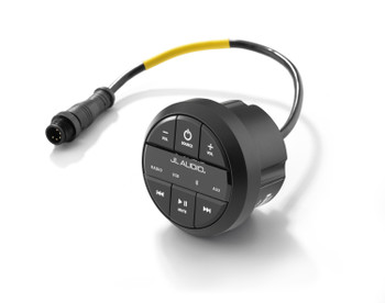 JL Audio MMR-20-BE: Round, wired, non-display remote controller for use with MediaMaster®