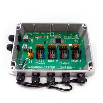 Wet Sounds/Shadow Caster Multi-Zone Black Box RGB lighting distribution case