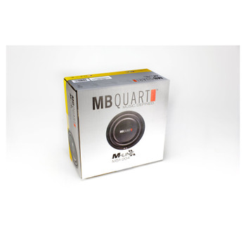 MB Quart MS1-254 10 inch M-Line shallow mount dual voice coil subwoofer with woven glass fiber cone.