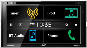 """JVC Refurbished KW-V430BT 6.8"""" Double DIN Bluetooth In-Dash DVD/CD/AM/FM In-Dash Car Stereo SiriusXM Radio Ready"""