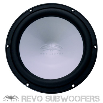 "Wet Sounds REVO8FA-B Black Free Air 8"" Subwoofer (Ea), Grill sold seperately 200 RMS/400 Peak"
