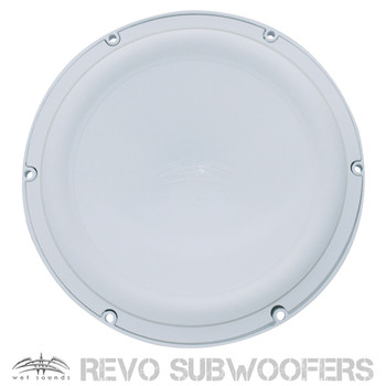 """Wet Sounds REVO8FA-W White Free Air 8"""" Subwoofer (Ea), Grill sold seperately 200 RMS/400 Peak"""