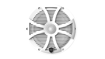 Wet Sounds REVO 8-SWW White Closed SW Grille 8 Inch Marine LED Coaxial Speakers (pair)