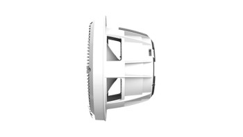 Wet Sounds REVO 8-XWW White Closed XW Grille 8 Marine LED Inch Coaxial Speakers (pair)