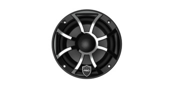 Wet Sounds REVO 6-XSB-SS Black XS / Stainless Overlay Grill 6.5 Inch Marine LED Coaxial Speakers (pair)
